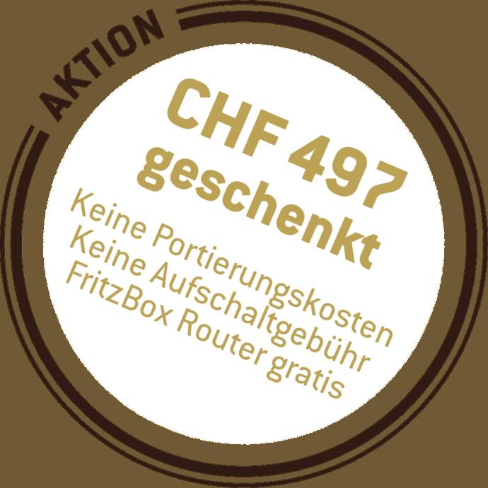 Dorfnetz Aktion CHF 497 geschenkt